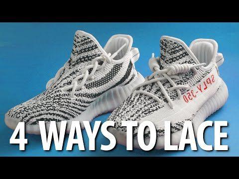 How To Lace Your Yeezy 350 4 Ways Youtube Yeezy Laces Yeezy Yeezy 350