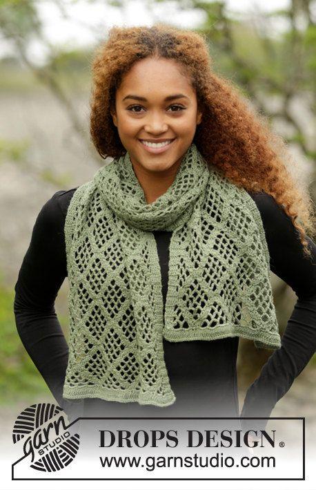 Crochet Olive Diamonds Merino Wool Yarn with Diamond Design, Custom Order, Handmade by Silkwithasizzle on Etsy