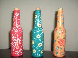 Resultado de imagem para artesanato com garrafas de vidro