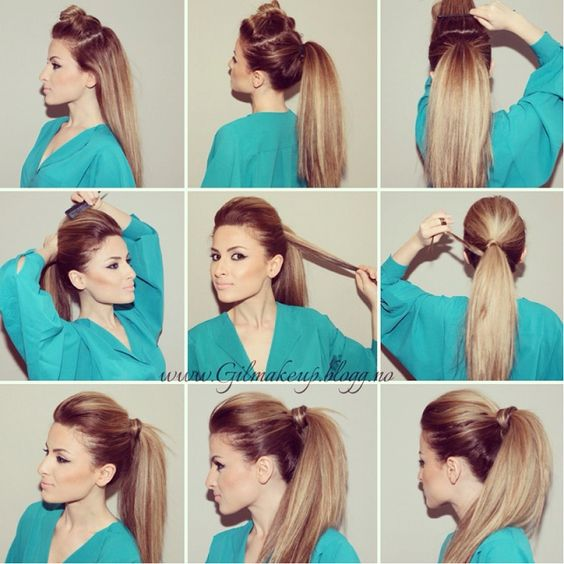 Miraculous Straight Hair Weave Ponytail Ideas And Ponytail Hairstyles On Short Hairstyles Gunalazisus