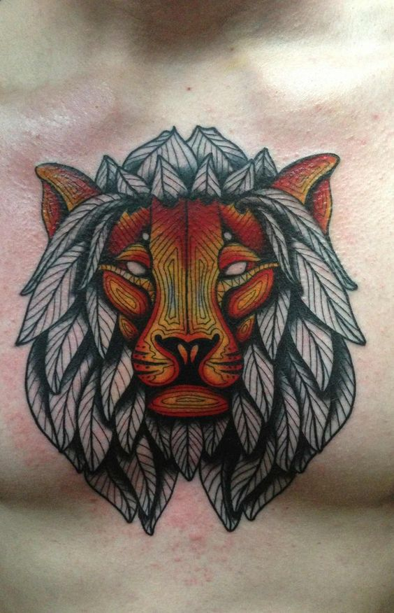 This is my friends tattoo and looks much better with a colored mane.