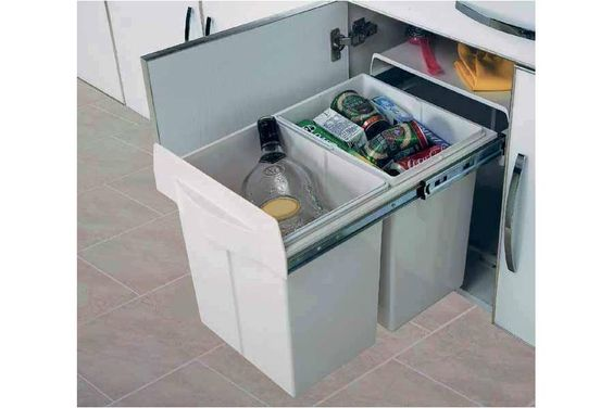 Poubelle tri selectif maxus accessoires de cuisines poubelles pour meuble bas accessoires for Poubelle cuisine tri selectif castorama