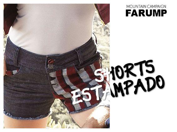 Shorts Estampado Farump Outono Inverno 2014