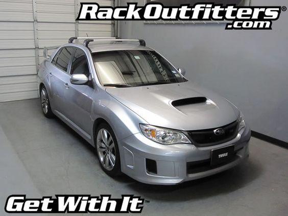 Rack Outfitters Subaru Impreza Wrx Sti 4 Door Thule Silver Aeroblade Edge Roof Rack 08 14 381 85 Http Www Rackoutfitters Subaru Impreza Roof Rack Wrx