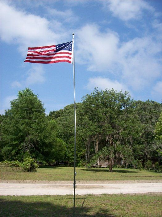 Build Your Own Flagpole Flag Pole Landscaping Backyard Landscaping Flag Pole