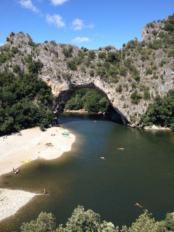 Vallon pont d'Arc, Ardèche, France.