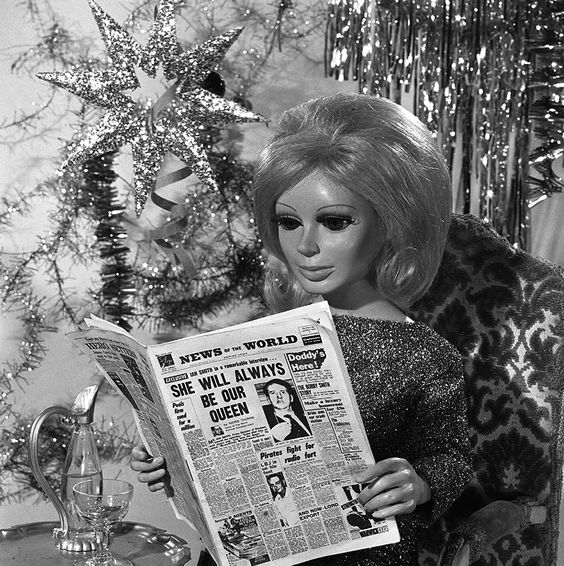 Lady Penlope reading the News of the World (1965)