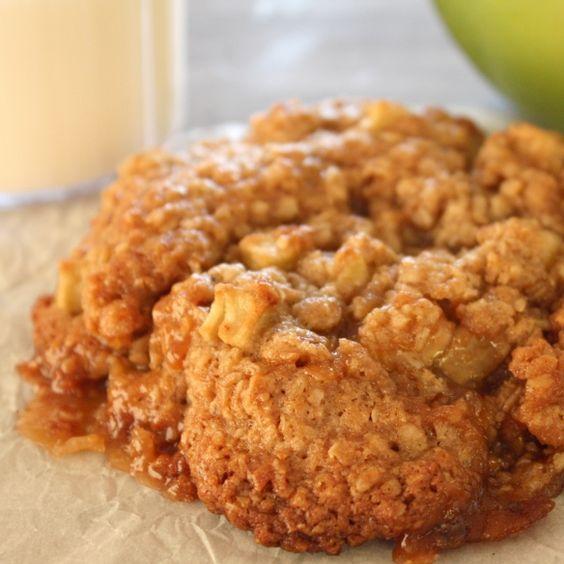 Toffee, Apple, Oatmeal Cookies