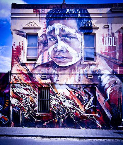 Melbourne grafite. Arte do grafite.