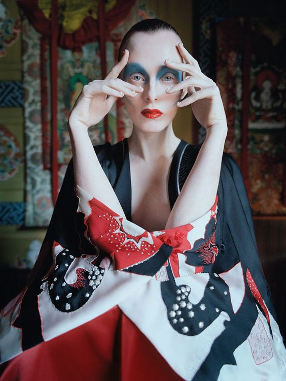 Karen Elson by Tim Walker for Vogue UK May 2015 | The Fashionography