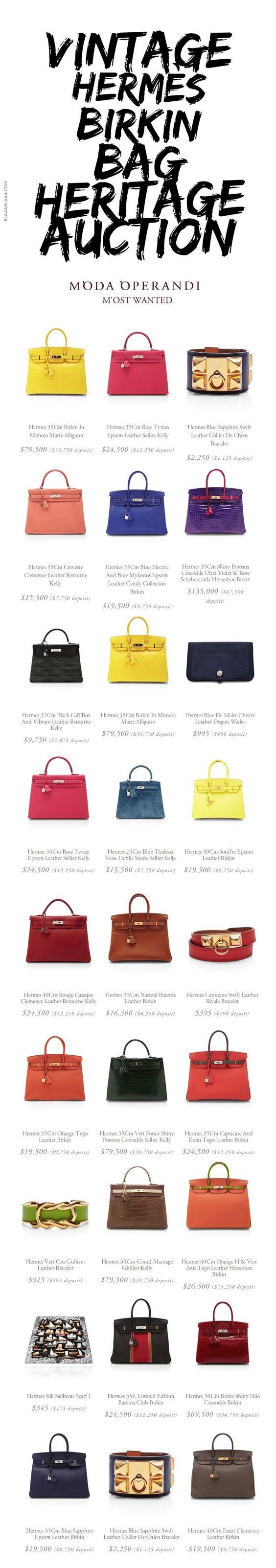 Vintage Hermès Birkin Bag Heritage Auction