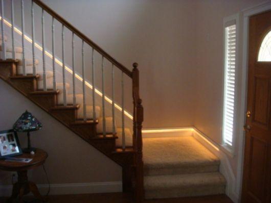 Fita De Led Escada 2 Stair Lighting Stair Lighting Pendant Recessed Lighting Living Room
