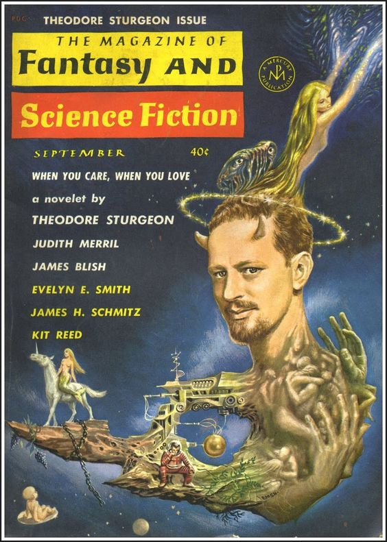 The Magazine of Fantasy and Science Fiction, September 1962. Cover art by Emsh.