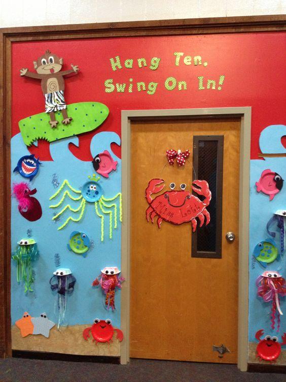 Ocean Classroom Decor : Ocean theme doormy classroom door bulletin boards