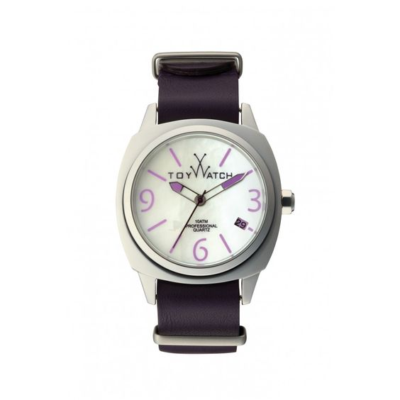 Toy Watch $248.  Love the purple detail.  ICON AMETHYST AND MOP