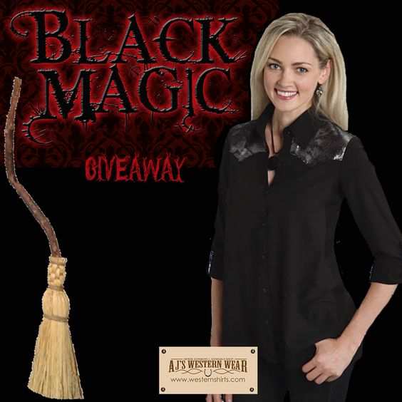 Register for our Black Magic Giveaway!  You could win this black shirts!  Winner chosen Nov 2nd! www.westernshirts.com/giveaway
