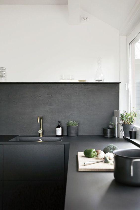 Schwarze küchen, nordischer stil and esszimmer on pinterest