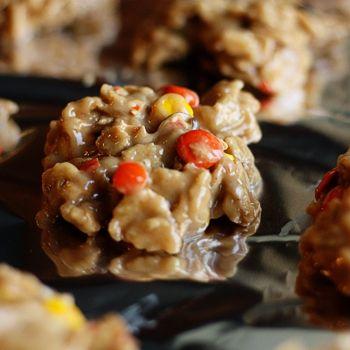 Reeses Pieces Drop No Bake Cookies