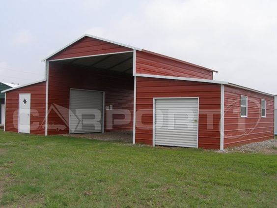Metal barn metals and shops on pinterest for Horse pole barn