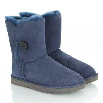 #xmas #gifts #ugg UGG Australia Authorised Retailer Navy Womens Bailey Button Calf Boot