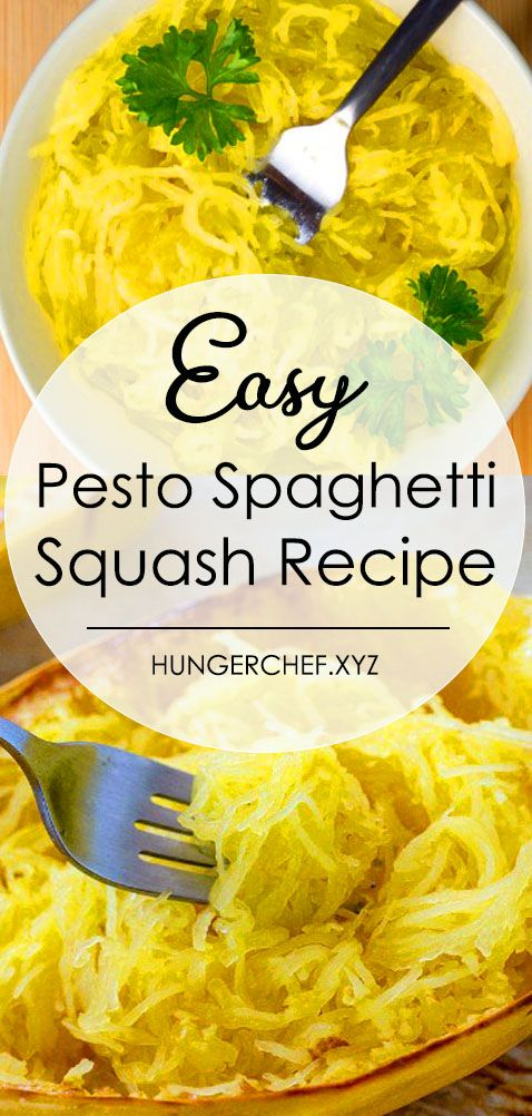 Here S How To Cook Pesto Spaghetti Squash If You Want Long Pasta Like Strands An Spagetti Squash Recipes Spaghetti Squash Recipes Easy Spaghetti Squash Recipes