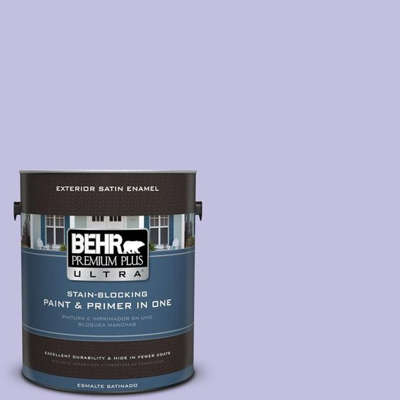 BEHR Premium Plus Ultra 1-gal. #630A-3 Weeping Wisteria Satin Enamel Exterior Paint