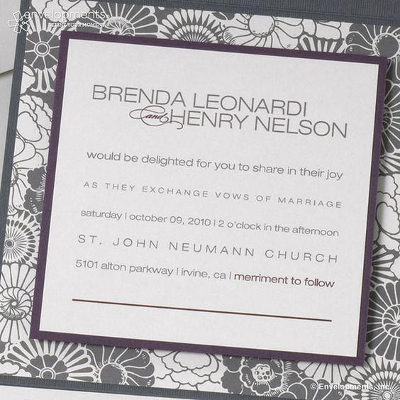 """Einladungskarte   Hochzeit """"Brenda_Henry"""" von papeterie transfair auf DaWanda.com"""