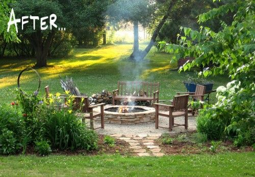 fire pits in gardens...