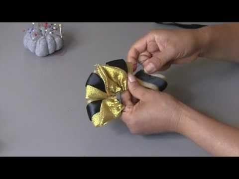 Laço com fitas de cetim e organza Passo a Passo - YouTube