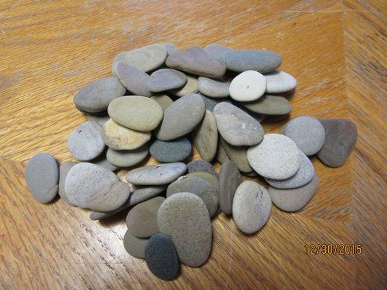 Lot of 50 Beach Stones Lake Michigan Mosaic Craft Supplies by TinkersAttic on Etsy