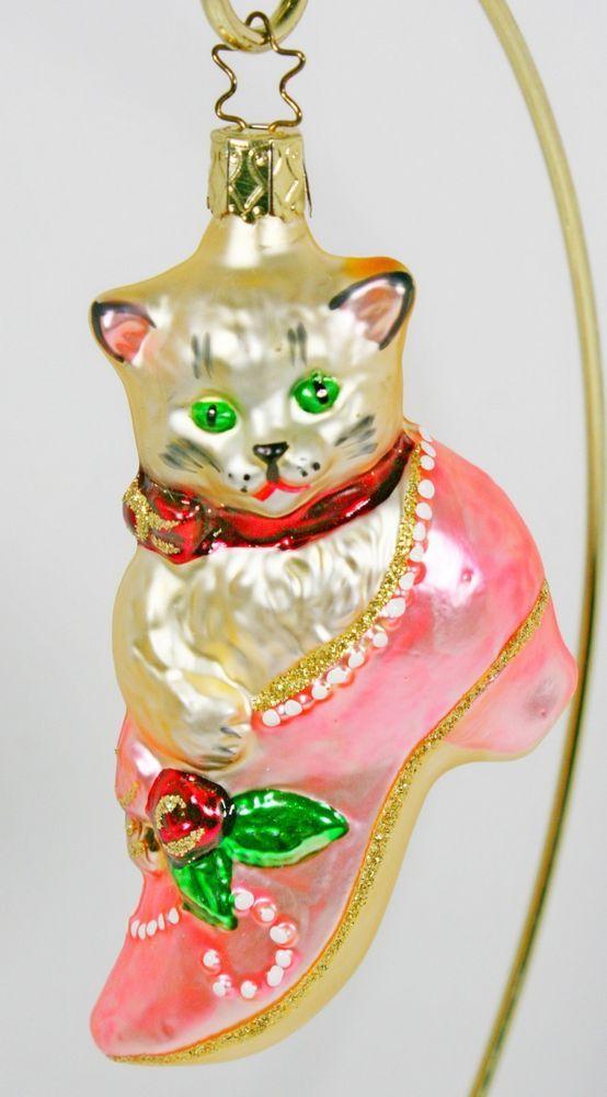 Kitten in Shoe Ornament