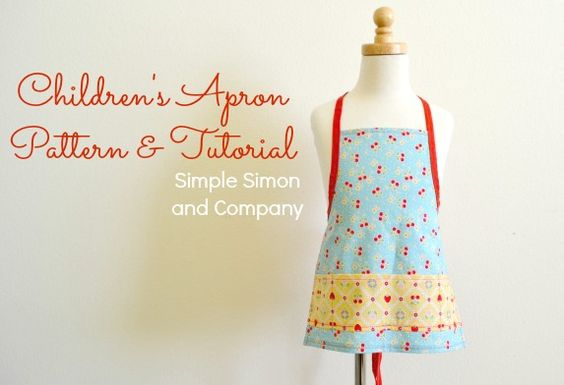 Aprons for Mom & Me & Little Sister: And a Toddler Apron Pattern and Tutorial | Simple Simon and Company