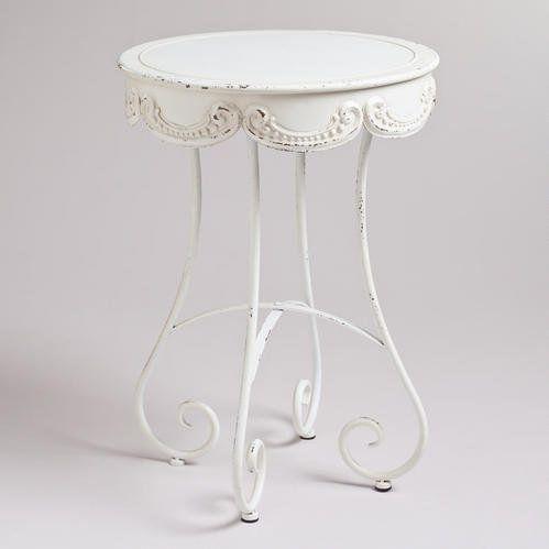 #worldmarket.com          #table                    #White #Round #Olivia #Accent #Table                White Round Olivia Accent Table                                               http://www.seapai.com/product.aspx?PID=70449