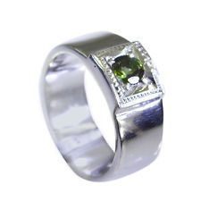 superb Tourmaline Silver Multi Ring jaipur L-1in US 5678
