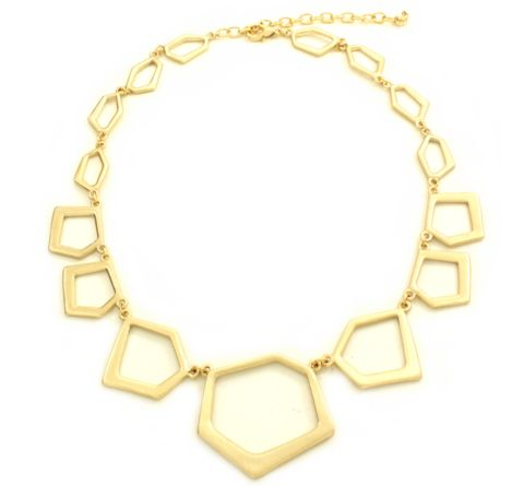 Cassidy Nouveau Gold Necklace: a bold but simple statement piece that works for day or night.