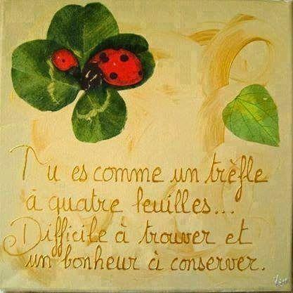 Citations option bonheur citation porte bonheur citations pinterest bonheur - Poeme coccinelle porte bonheur ...