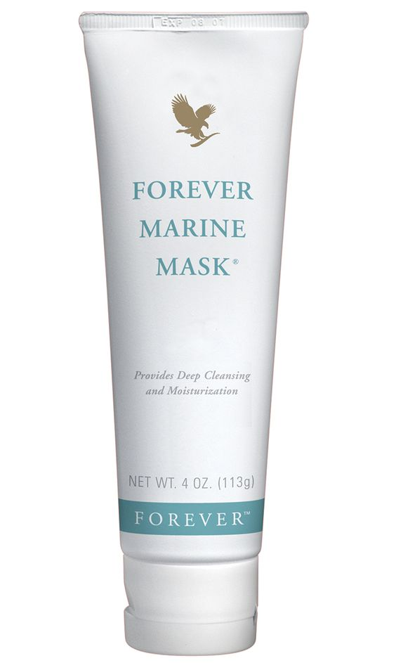 Forever Living Products - Forever Marine Mask. Provides a deep cleanse, while balancing the skin's texture with natural sea minerals. Also contains the super moisturising and conditioning properties of aloe vera, honey and cucumber extract.  http://www.beforeverfree.myforever.biz/store