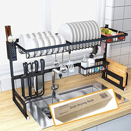 Dish Drying Rack Over Sink Kitchen Supplies Storage Shelf