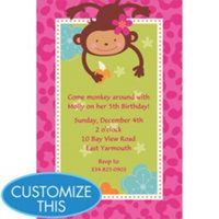 Monkey love party invitations - photo#17