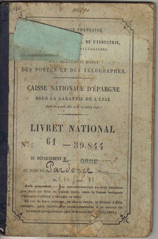 caisse nationale d'épargne : livret national