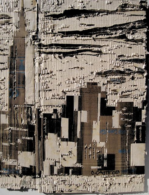 NYCARTON  PAINTINGS ON CARDBOARD BY FRENCH ARTIST OLIVIER CATTE