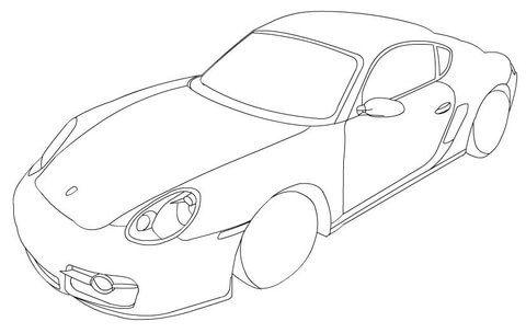 Einfach Ausmalbilder Porsche Zum Ausdrucken Porsche