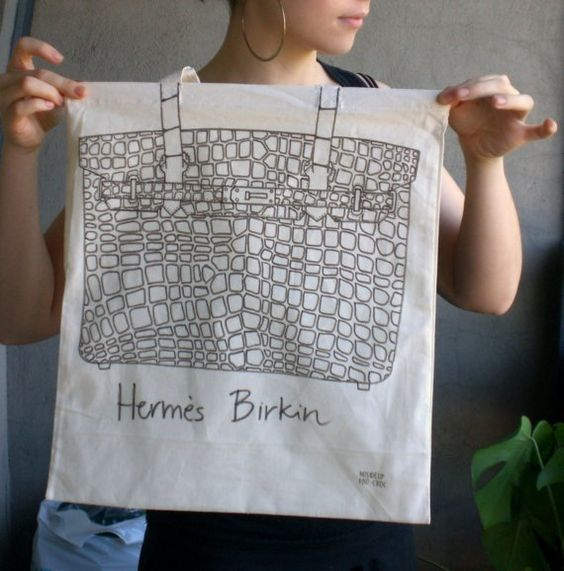 Hand drawn Birkin Bag
