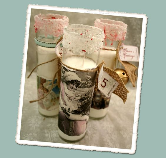 Make your own vintage candles (from the Dollar Store!) #decor #DIY #craft #candle #home #vintage #project