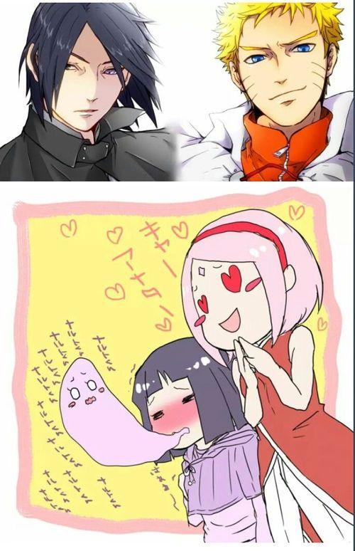 Imagen de naruto, sasuke uchiha, and sasusaku