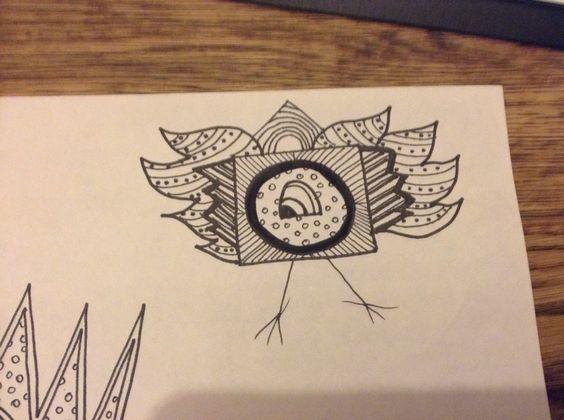 My doodle birds using zentangle.