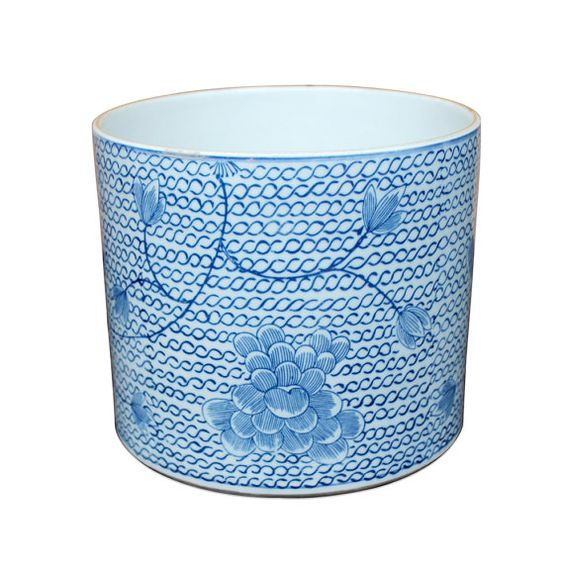 Blue and White Chinese Porcelain Handmade Outdoor by TaoAccentsInc