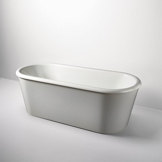 """Freestanding Oval Composite Bathtub 70"""" x 32"""" x 24"""" — Products 