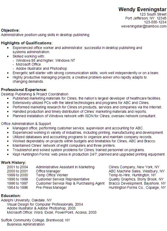 Functional Resume Example Administrative Position Like a boss - examples of resumes for administrative positions
