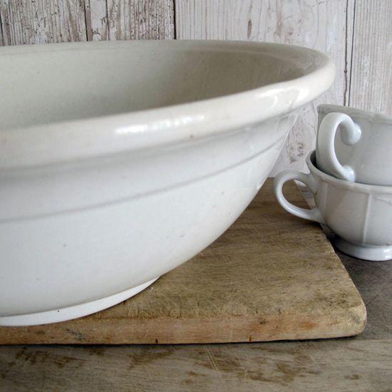 XL Ironstone Water Bowl Basin <3